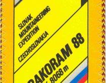 Horolezecká expedícia Karakoram 1988 - vlajka