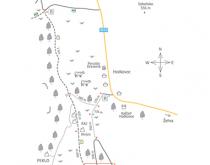 Lezecký sprievodca Červené previsy, Dreveník - mapa