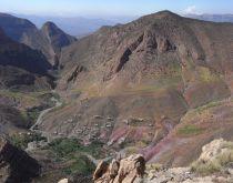 Taghia- pohľad z vrcholu Oujdadu