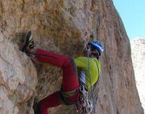 Oujdad - Richard Nyéki lezie štvrtú dĺžku prvovýstupu