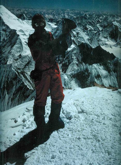 Lívia Klembárová na vrchole - Gasherbrum II