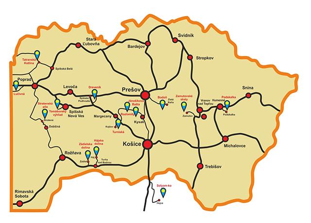 Lezecké oblasti v okolí Košíc