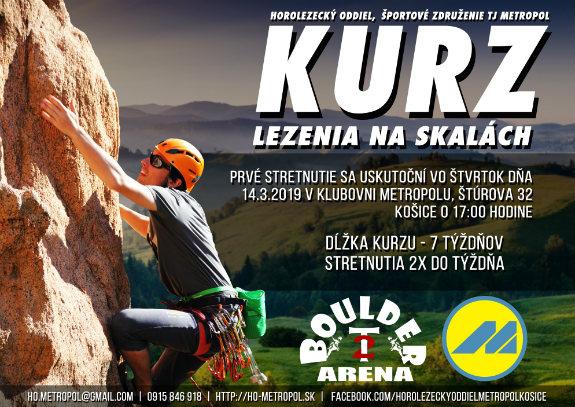 Kurz lezenia na skalách Košice 2019