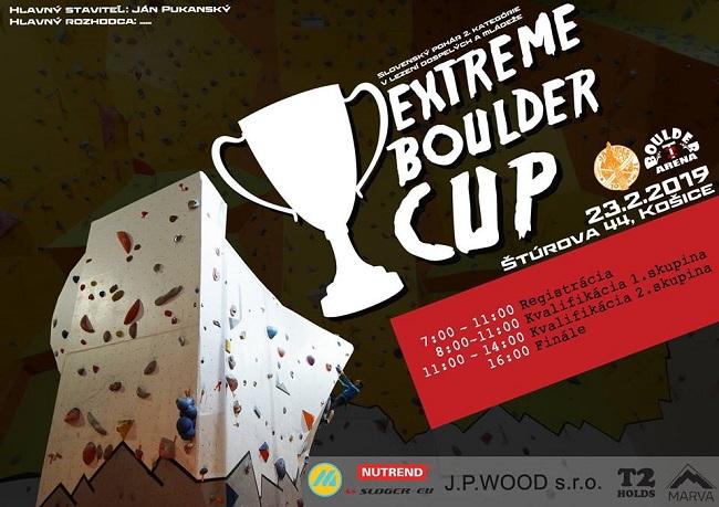 Preteky v boulderingu Košice - Extrem Boulder Cup
