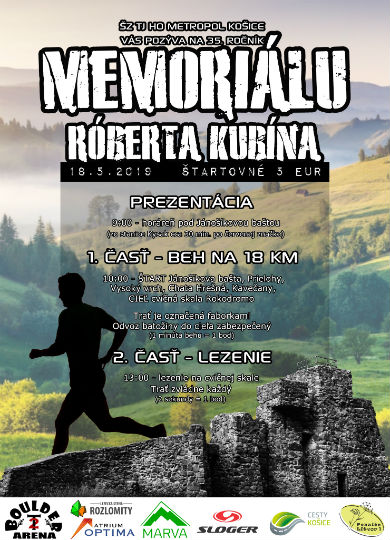 Memorial Roberta Kubína 2019 Pozvánka